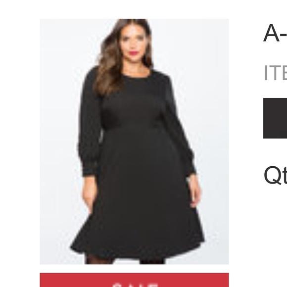07ff2166763 Eloquii Dresses   Skirts - Eloquii black dress